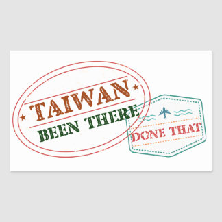Taiwan Been There Done That Rectangular Sticker