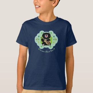 Taiwan black bear plays guitar illustration T-Shirt