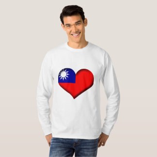 Taiwan (Chinese Taipei) Heart Flag T-Shirt