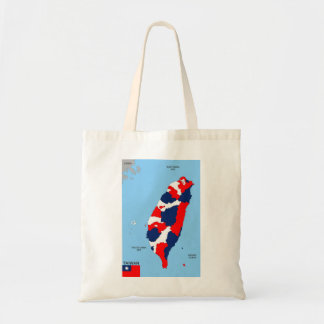 taiwan country political map flag bags