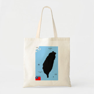taiwan country political map flag canvas bag