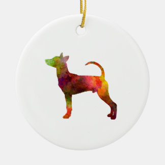 Taiwan Dog in watercolor Ceramic Ornament