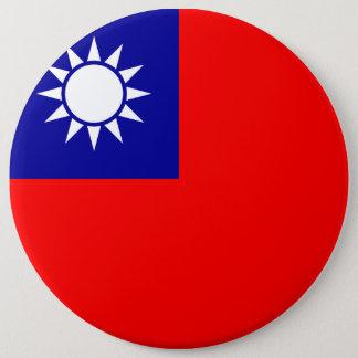 Taiwan Flag 6 Cm Round Badge