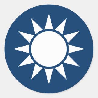 "Taiwan Flag ""Classic"" Classic Round Sticker"