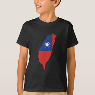 Taiwan Flag Map full size T-Shirt