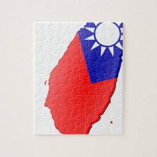 Taiwan Flag Map Jigsaw Puzzle