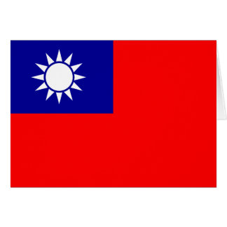 Taiwan Flag Note Card
