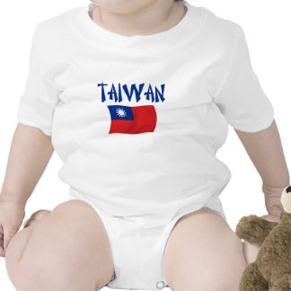 Taiwan Flag Rompers
