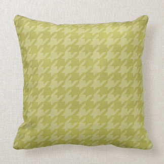 Taiwan Green Houndstooth Throw Pillow