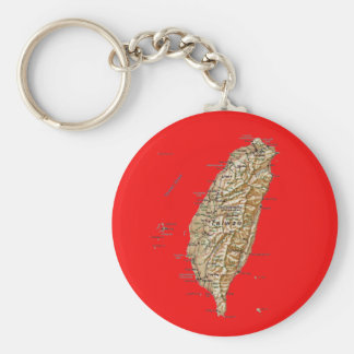 Taiwan Map Keychai Key Ring