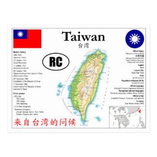Taiwan map Postcard