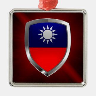 Taiwan Metallic Emblem Metal Ornament