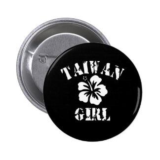 Taiwan Pink Girl Pinback Buttons