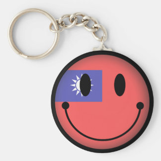 Taiwan Smiley Basic Round Button Key Ring