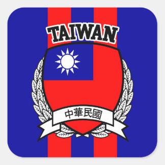 Taiwan Square Sticker