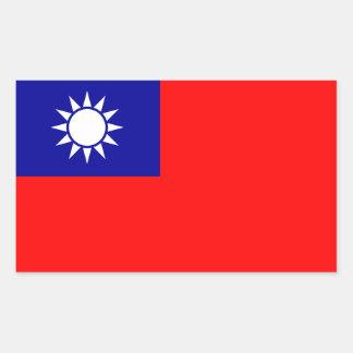 Taiwan/Taiwanese Flag Rectangular Sticker