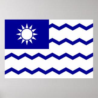 Taiwan Tax Office, China flag Print