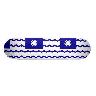 Taiwan Tax Office China flag Custom Skateboard