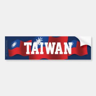 Taiwan Waving Flag Car Bumper Sticker