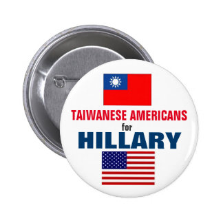 Taiwanese Americans for Hillary 2016 6 Cm Round Badge