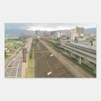Taiwanese City and Landscape Rectangular Sticker