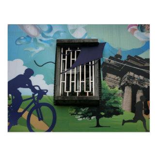 Taiwanese graffiti, Taipei, Taiwan Postcard