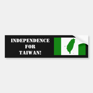 Taiwanese Independence Bumper Sticker