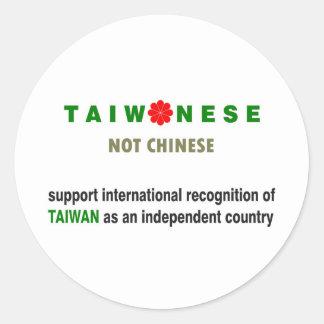 Taiwanese Not Chinese Classic Round Sticker