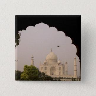 Taj Mahal, Agra, Uttar Pradesh, India 2 15 Cm Square Badge