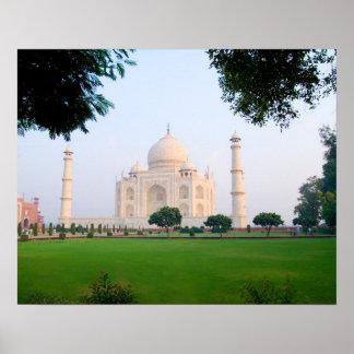Taj Mahal at sunrise one of the wonders of the Poster