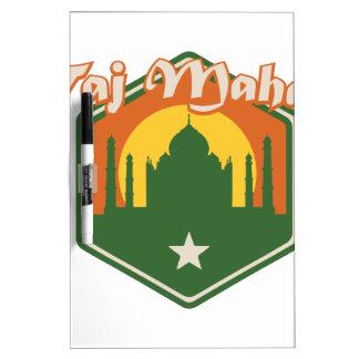 Taj Mahal Dry Erase Board