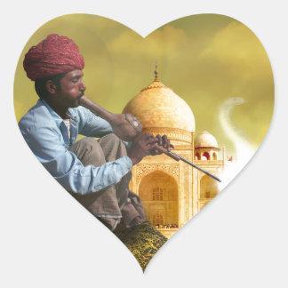 Taj Mahal Heart Sticker