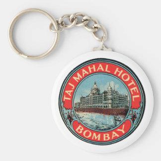 Taj Mahal Hotel Basic Round Button Key Ring