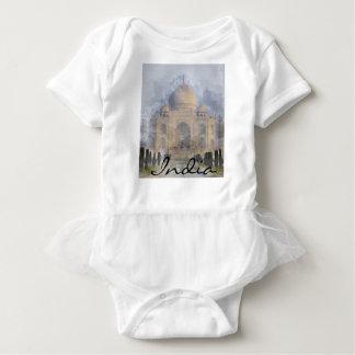 Taj Mahal in Agra India Baby Bodysuit
