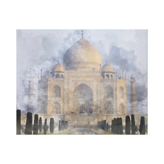 Taj Mahal in Agra India Canvas Print