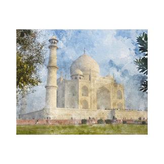 Taj Mahal in Agra India Canvas Print