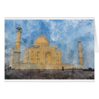Taj Mahal in Agra India Card