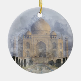 Taj Mahal in Agra India Ceramic Ornament