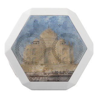 Taj Mahal in Agra India - Digital Art Watercolor White Bluetooth Speaker