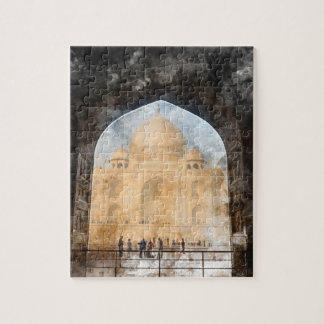 Taj Mahal in Agra India Jigsaw Puzzle