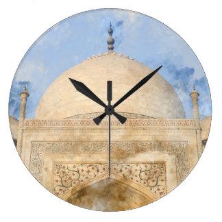 Taj Mahal in Agra India Large Clock
