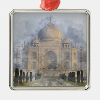 Taj Mahal in Agra India Metal Ornament