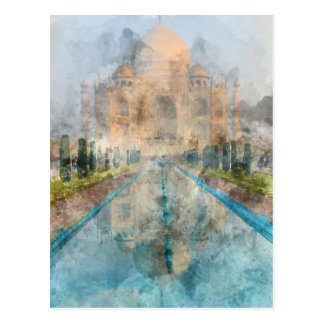 Taj Mahal in Agra India Postcard