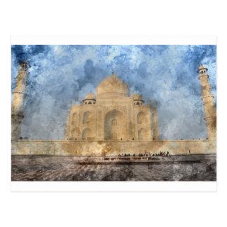 Taj Mahal in Agra India Postcard