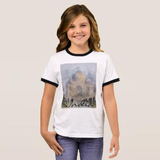 Taj Mahal in Agra India Ringer T-Shirt