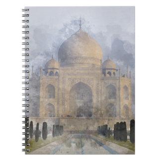 Taj Mahal in Agra India Spiral Notebook