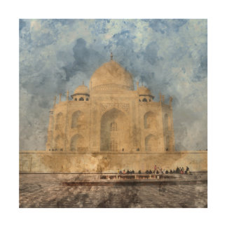 Taj Mahal in Agra India Wood Wall Decor