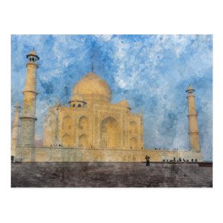 Taj Mahal in India Postcard