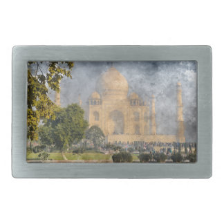 Taj Mahal in India Rectangular Belt Buckles
