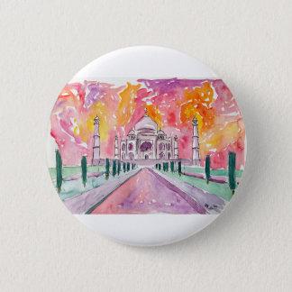 Taj Mahal India 6 Cm Round Badge